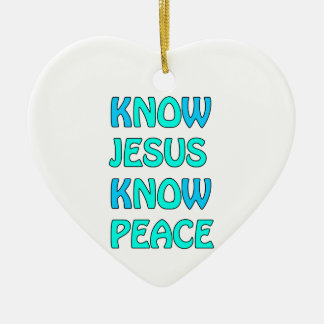 Know Jesus Know  Peace No Jesus No Peace Light Blu Christmas Ornament