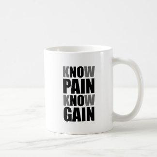 Know Pain Gain Basic White Mug