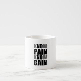 Know Pain Gain Espresso Mug