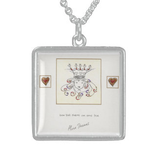 Know that Dreams can come True Square Pendant Necklace