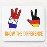 KNOW THE DIFFERENCE MOUSE MAT
