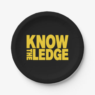 KNOW THE LEDGE PAPER PLATE