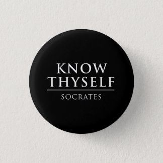 Know Thyself - Socrates 3 Cm Round Badge