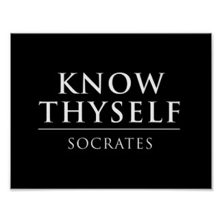 Thyself Posters | Zazzle.co.uk