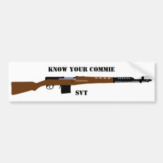 Know Your commie SVT Bumper sticker