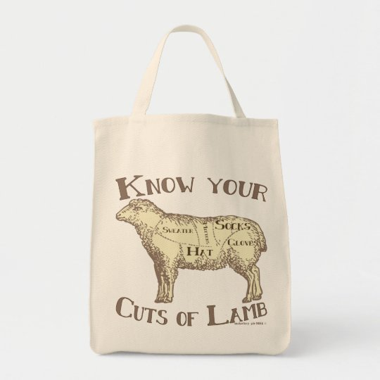 Know your cuts of lamb FUNNY DIY Tote