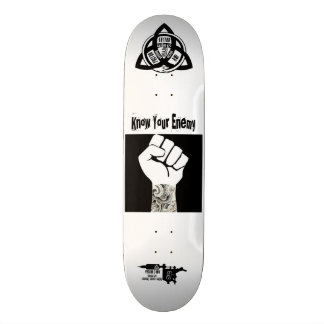 【Know Your Enemy】 tattoo sk8 / FACTOR 3 INK 21.3 Cm Mini Skateboard Deck