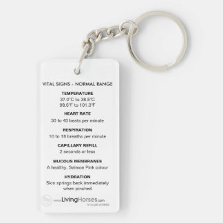 Know Your Horse - Vital SIgns Key Chain