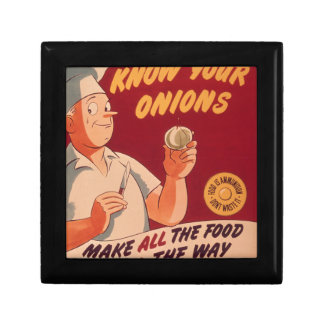 Know your onions small square gift box