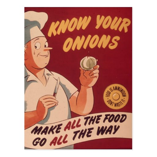 Know Your Onions - Vintage Cartoon Postcards