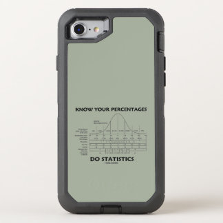 Know Your Percentages Do Statistics Stats Humor OtterBox Defender iPhone 8/7 Case