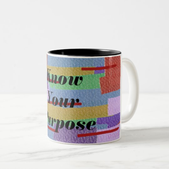 Know Your Purpose Two-Tone Coffee Mug