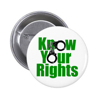 KNOW YOUR RIGHTS - police state/prison/drug war 6 Cm Round Badge