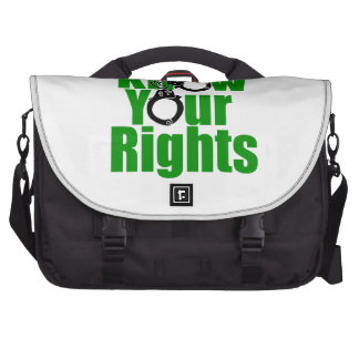 KNOW YOUR RIGHTS - police state prison drug war Bags For Laptop