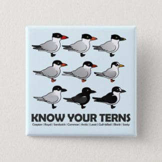 Know Your Terns 15 Cm Square Badge