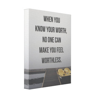 Know Your Worth Quote Canvas Print