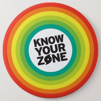 Know Your Zones 6 Cm Round Badge