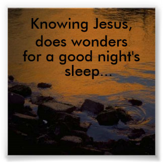 Knowing Jesus, does wonders... Poster