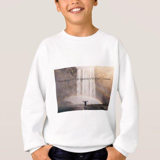 Knowing Yourself Quote - Kids Sweatshirt