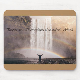 Knowing Yourself Quote - Mouse Pad