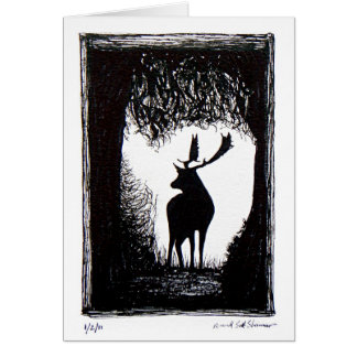 Knowle Park in Sevenoaks Hand Drawn Deer Greeting Card