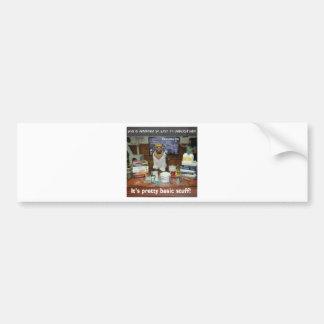 Knowledge Dog Basic Ammonia Bumper Sticker