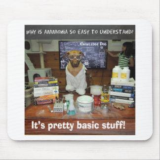 Knowledge Dog Basic Ammonia Mouse Pad