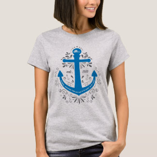 Knowledge, Help and Hope Anchor Light Grey Tshirt