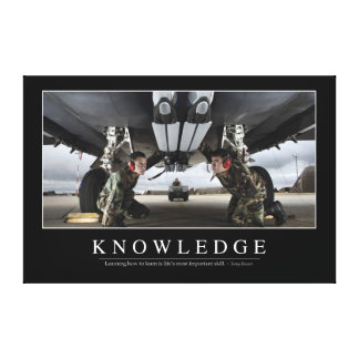 Knowledge: Inspirational Quote Canvas Print