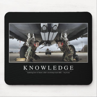 Knowledge: Inspirational Quote Mouse Pad