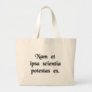 Knowledge is power. bags