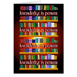 Knowledge is Power Bookscase Card