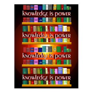 Knowledge is Power Bookscase Post Card