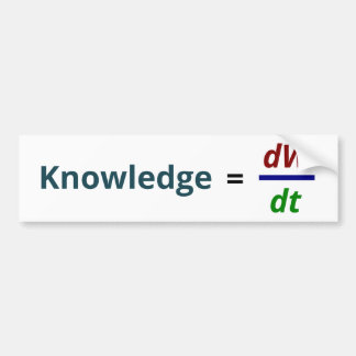 Knowledge is power bumper sticker
