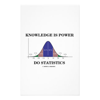 Knowledge Is Power Do Statistics Bell Curve Humor Custom Stationery