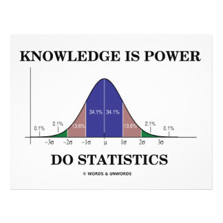 Knowledge Is Power Do Statistics (Stats Humor) 21.5 Cm X 28 Cm Flyer