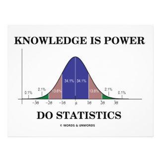 Knowledge Is Power Do Statistics (Stats Humor) 21.5 Cm X 28 Cm Flyer