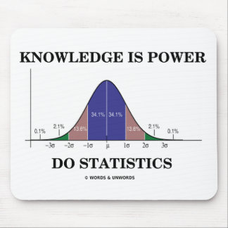 Knowledge Is Power Do Statistics (Stats Humor) Mouse Pad