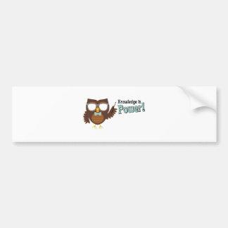Knowledge Owl Bumper Sticker