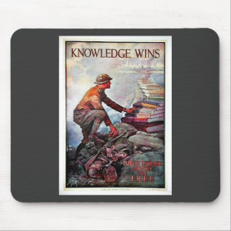 Knowledge Wins Mouse Pad