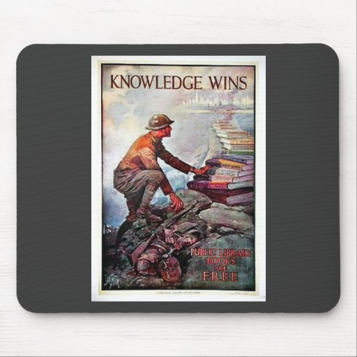 Knowledge Wins Mouse Pads