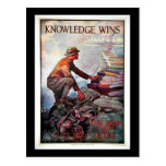 Knowledge Wins Post Card