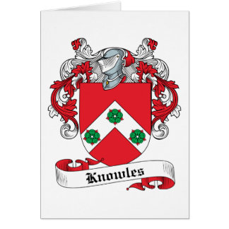 Knowles Family Crest Greeting Card