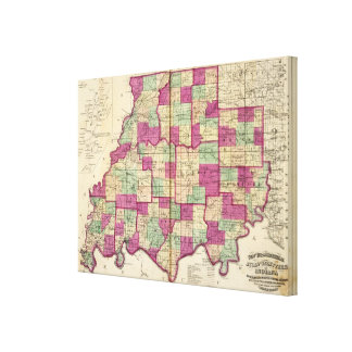 Knox County and Daviess County Canvas Print
