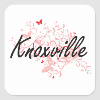 Knoxville Tennessee City Artistic design with butt Square Sticker