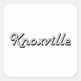 Knoxville Tennessee Classic Retro Design Square Sticker