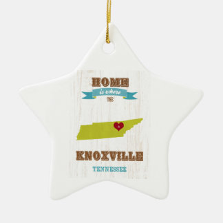 Knoxville, Tennessee Map – Home Is Where Ceramic Star Decoration