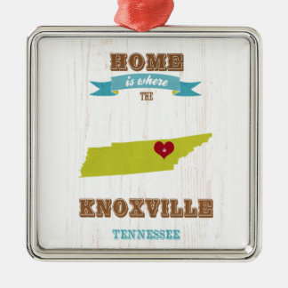 Knoxville, Tennessee Map – Home Is Where Christmas Ornament