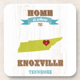 Knoxville, Tennessee Map – Home Is Where Drink Coasters