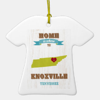 Knoxville Tennessee Map – Home Is Where Christmas Tree Ornament